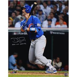 "David Ross Signed Cubs 16x20 Photo Inscribed ""16 WS CHAMPS"" (Schwartz COA)"