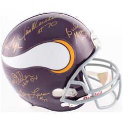 "Vikings ""Purple People Eaters"" Full-Size Helmet Signed by (5) with Carl Eller, Jim Marshall, Alan Pa"