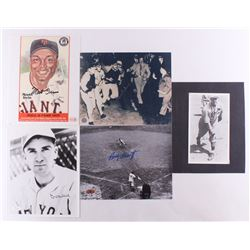 Lot of (5) Assorted Hall of Fame 8x10 Photos Signed by Monte Irvin, Carl Hubbell, Johnny Vander Meer