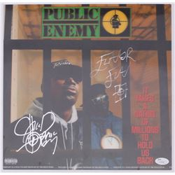 "Chuck D  Flavor Flav Signed Public Enemy ""It Takes a Nation of Millions to Hold Us Back"" 12x12 Lenti"