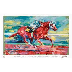 "Secretariat ""Greatest Race Horse In History"" 11x17 Signed Winford Limited Edition Lithograph #11/199"