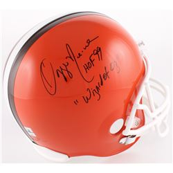 "Ozzie Newsome Signed Browns Full-Size Helmet Inscribed ""Wizard of Oz"" (Jersey Source COA)"
