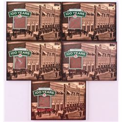 Lot of (5) 2012 Topps Red Sox Fenway Park Infield Dirt Relic Card