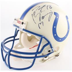 Peyton Manning Signed Colts Authentic On-Field Full-Size Helmet (JSA LOA)