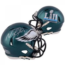Nick Foles Signed Eagles Super Bowl LII Speed Mini Helmet (Fanatics)