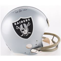 "Jim Plunkett Signed Raiders Authentic On-Field Full-Size Helmet Inscribed ""S.B. XV MVP"" (TriStar Hol"