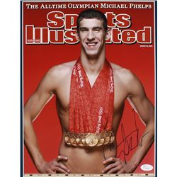 Michael Phelps Signed 11x14 Photo (JSA COA)