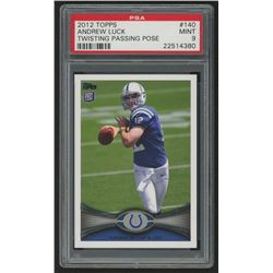 2012 Topps #140D Andrew Luck FS / (twisting passing pose/ factory set insert) (PSA 9)