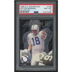 1998 Collector's Edge Advantage #189 Peyton Manning RC (PSA 8)