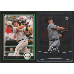 Lot of (2) Buster Posey Cards with 2010 Bowman Draft #BDP61 RC  2010 Bowman Platinum #18 RC