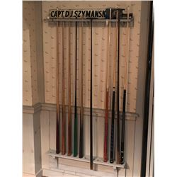 Cue Rack with Cues
