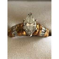 Estate Ring Marquise Cut