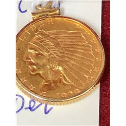 1928 Gold 1/2 Dollar Indian Coin in Holder