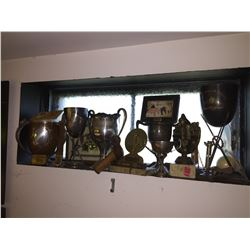 Collection of Vintage Pool Trophies
