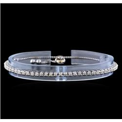 1.00 ctw Diamond Bracelet - 14KT White Gold