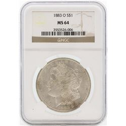 1883-O $1 Morgan Silver Dollar Coin NGC MS64