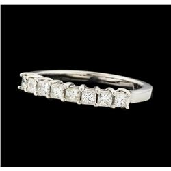 0.54 ctw Diamond Ring - 14KT White Gold