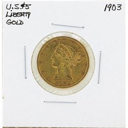 1903 $5 Liberty Head Half Eagle Gold Coin