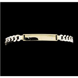 14KT White Gold Chain Link Bracelet