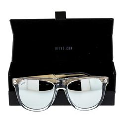 Stainless Steel 9-Five Sunglasses With Custom Diamond Finish