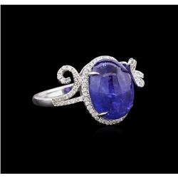 18KT White Gold 9.03 ctw Tanzanite and Diamond Ring