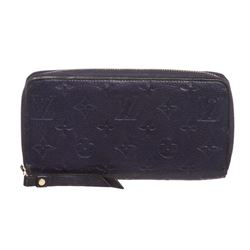 Louis Vuitton Blue Empreinte Leather Monogram Zippy Wallet