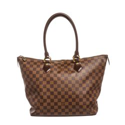 Louis Vuitton Damier Ebene Canvas Leather Saleya MM Bag