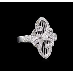 0.40 ctw Diamond Ring - 18KT White Gold