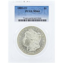 1885-CC $1 Morgan Silver Dollar Coin PCGS MS64
