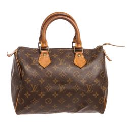 Louis Vuitton Monogram Canvas Leather Speedy 25 cm Bag