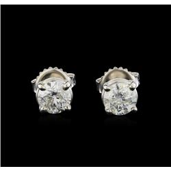 14KT White Gold 1.29 ctw Diamond Stud Earrings