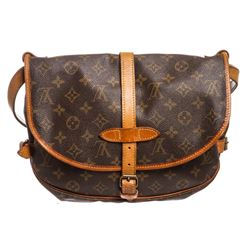Louis Vuitton Monogram Canvas Leather Saumur 30 cm Messenger Bag