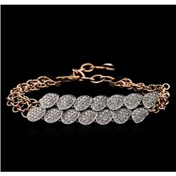 1.84 ctw Diamond Bracelet - 14KT Two-Tone Gold