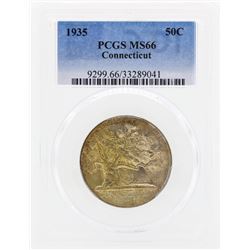 1935 Connecticut Commemorative Half Dollar Coin PCGS MS66