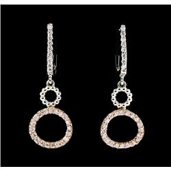 0.50 ctw Diamond Earrings - 14KT Two-Tone Gold