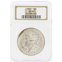 1889 MS63 NGC Morgan Silver Dollar