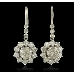 14KT White Gold 3.72 ctw Diamond Earrings