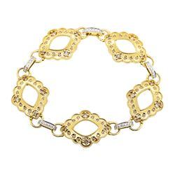 1.18 ctw Diamond Bracelet - 18KT Yellow Gold