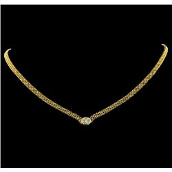 1.00 ctw Diamond Necklace - 14KT Yellow Gold
