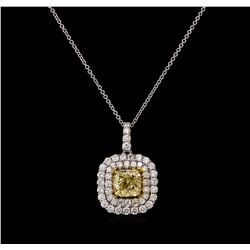 14KT Two-Tone Gold 2.15 ctw Diamond Pendant