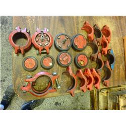 Lot of Misc Pipe Clamps