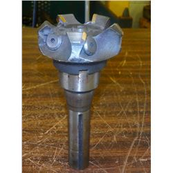 """R8 Shank Shell End Mill Holder with 2.5"""" Indexable Face Mill"""