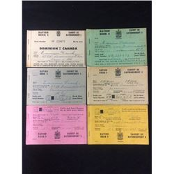 CANADIAN RATION BOOK LOT (SET OF 6)