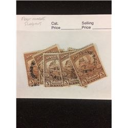 CANADIAN STAMPS LOT (3 CENTS -NEWFOUNDLAND)