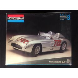 "MONOGRAM MERCEDES 300 SLR ""722"" 1:24 SCALE UNASSEMBLED MODEL KIT W/ BOX"