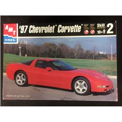 AMT/ERTL '97 CHEVROLET CORVETTE 1:25 SCALE UNASSEMBLED MODEL KIT W/ BOX