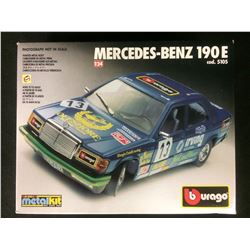 BURAGO MERCEDES-BENZ 190 E 1:24 SCALE UNASSEMBLED MODEL KIT W/ BOX