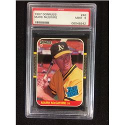 1987 DONRUSS #46  MARK McGUIRE (MINT 9) PSA GRADED