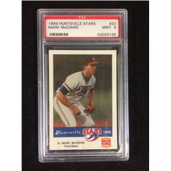 1986 HUNTSVILLE STARS #33 MARK McGWIRE (MINT 9) PSA GRADED