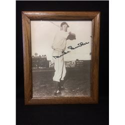 "DUKE SNIDER AUTOGRAPHED FRAMED B & W PHOTO 13"" X 16"""